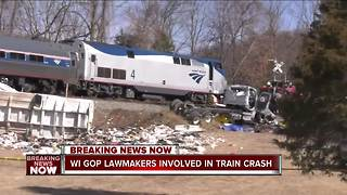 Wisc. GOP lawmakers involved in train crash - Video