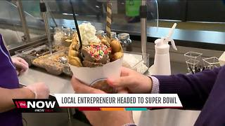 Milwaukee business 'Bubble Waffle' headed to the Super Bowl - Video