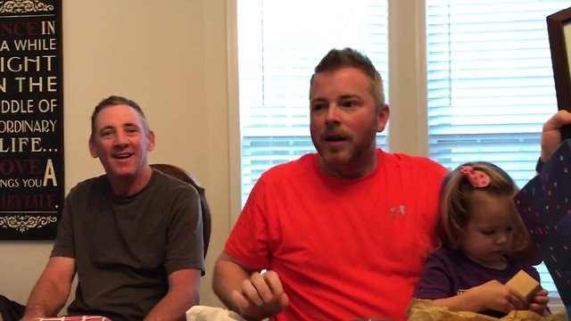 Husband shocked with baby #4 pregnancy announcement - Video