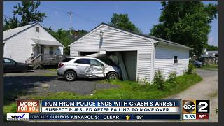 Run from police ends with crash in Elkton - Video