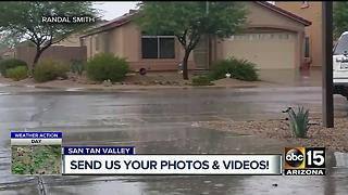 Friday storm damages Mesa couple's mobile home - Video