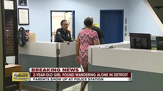 Parents of 2-year-old girl found wandering alone in Detroit show up at police precinct