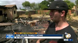 Fire guts family home in El Cajon - Video