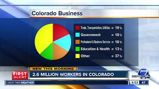 2.6 million workers in Colorado - Video