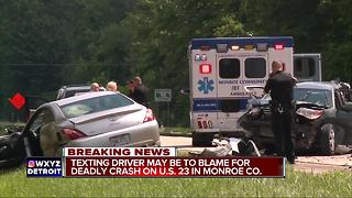 Texting driver may be to blame for deadly crash on US-23 in Monroe County - Video