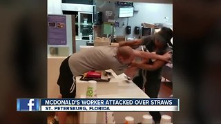 McDonald's worker attacked by customer over straws