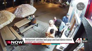 Restaurant camera catches bad guys & dance moves - Video