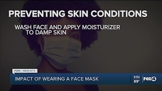 Masks causing skin conditions