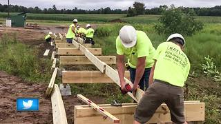 General Cone Fitness Trail is under construction - Video