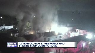 Metro Detroit family loses everything in house fire, saved by 12-year-old - Video