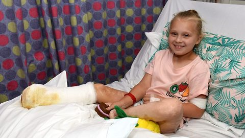 Schoolgirl loses both feet after getting mystery meningitis 'caused by swimming in sea'
