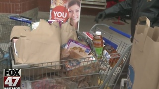 Food drives feed mid-Michigan families - Video