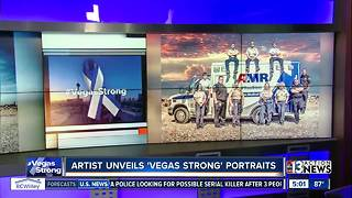 Artist finishes photo project of first responders - Video