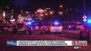 Lincoln bans people from owning bump stocks