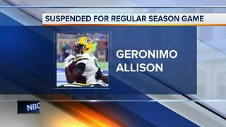 Packers Geronimo Allison suspended without pay for violating NFL substance abuse policy - Video