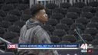 Star KU player will not play in Big 12 Tournament - Video