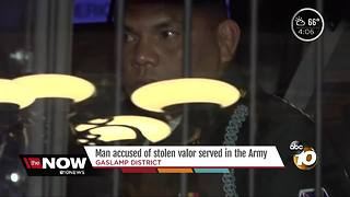 Man accused of stolen valor served int he Army - Video