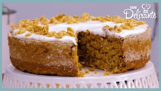 Carrot cake with oatmeal, no flour and no sugar!