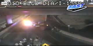 Vegas PD: Domestic situation leads to vehicle pursuit