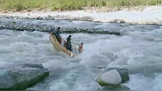 Disastrous white-water rafting accident flings passengers into raging current