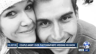 Couple angry over photographer's wedding no-show - Video
