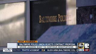 Baltimore Police Union rejects city-proposed contract - Video