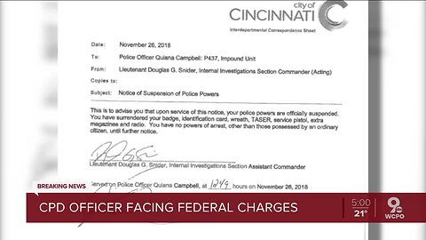 Feds: Cincinnati officer outed undercover colleague, lied to federal agents