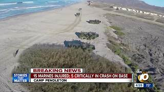 15 Marines hurt in fiery accident at Camp Pendleton - Video