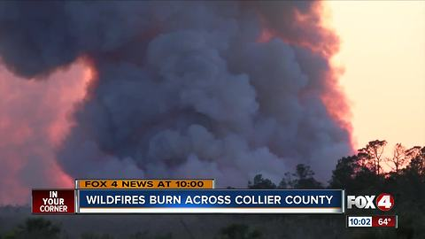 Evacuations lifted for Collier wildfire
