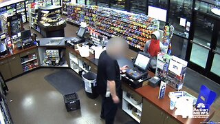 Surveillance video captures suspect in Northland gas station robbery