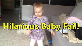 Spinning toddler wipes out from diziness - Video