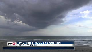 Two men struck by lightning on Satellite Beach
