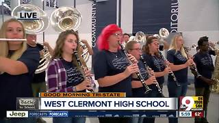 West Clermont High School band performs fight song