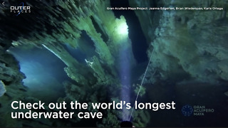 Longest Underwater Cave Discovered In Mexico  - Video