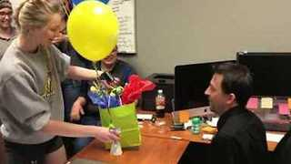 Boss Sees Color for the First Time Thanks to His Employees