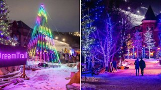 You Can Explore A Twinkling Rainbow Trail At Ontario's Magical Christmas Town Next Month