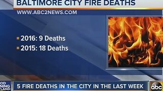 5 fire deaths reported in Baltimore City last week
