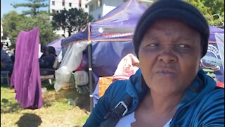 South Africa - Cape Town - backyard dwellers and homeless people (video) (agq)