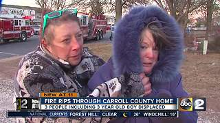 Fire rips through Carroll County home - Video