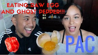 Couple Eat Raw Egg and Ghost Pepper - Video