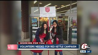 Volunteers needed for Salvation Army's Red Kettle campaign - Video