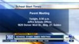 School start times in Jeffco - Video