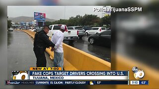Fake police officers targeting drivers crossing into the US