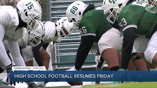 High school football resumes Friday