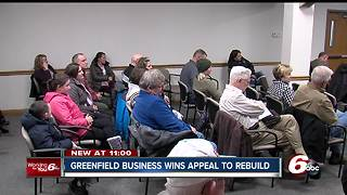 Greenfield business wins rezoning appeal to rebuild after fire - Video