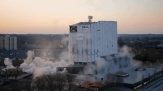 Over 500 pounds of Explosives Bring Down Georgia Archives Building - Video