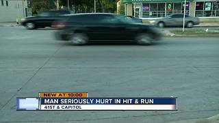 Man seriously hurt in hit and run - Video