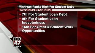 Michigan among top 10 states with most student debt - Video
