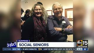 Valley woman teaching social media at senior center - Video