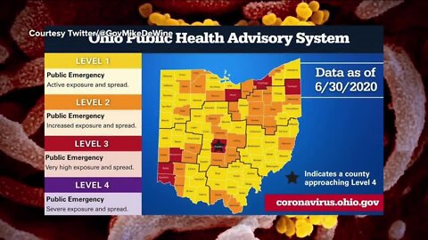 DeWine unveils system to show Ohio counties' COVID-19 levels